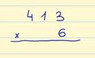 Ejemplo pasos para hacer multiplicaciones