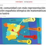Mapa de alumnos excelentes en matemáticas de España