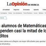 Los alumnos murcianos muestran dificultades con las matemáticas
