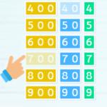 Tarjetas Montessori para aprender unidades, decenas y centenas