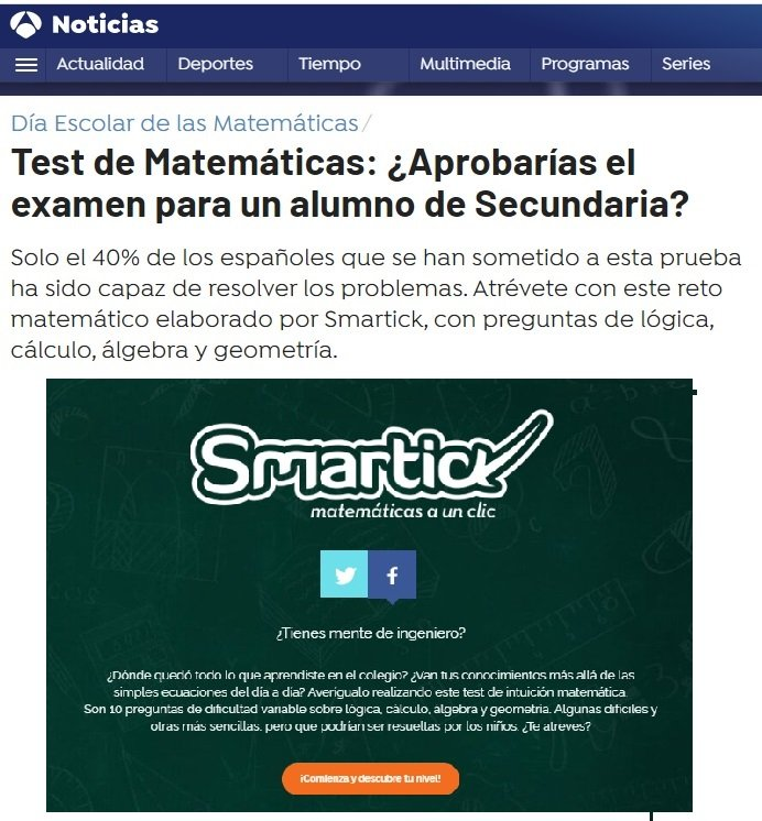 prueba de matemáticas