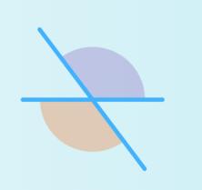 En la imagen se observan dos ángulos que no son consecutivos.