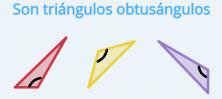 Ejemplos de triángulos obtusángulos