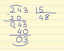 dividir por una cifra paso a paso