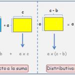 Propiedad distributiva de la multiplicación