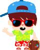imagen de niño de vacaciones