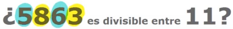 Criterio de divisibilidad del 11