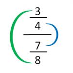 Ejercicios de división de fracciones