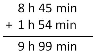 Problemas con medidas de tiempo