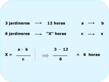 regla de tres inversa