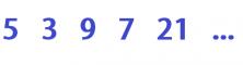 secuancias de números 9